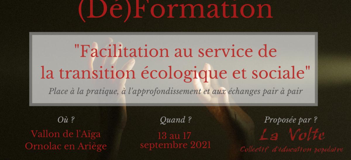 (Dé)formation : Facilitation au service de la transition écologique et sociale