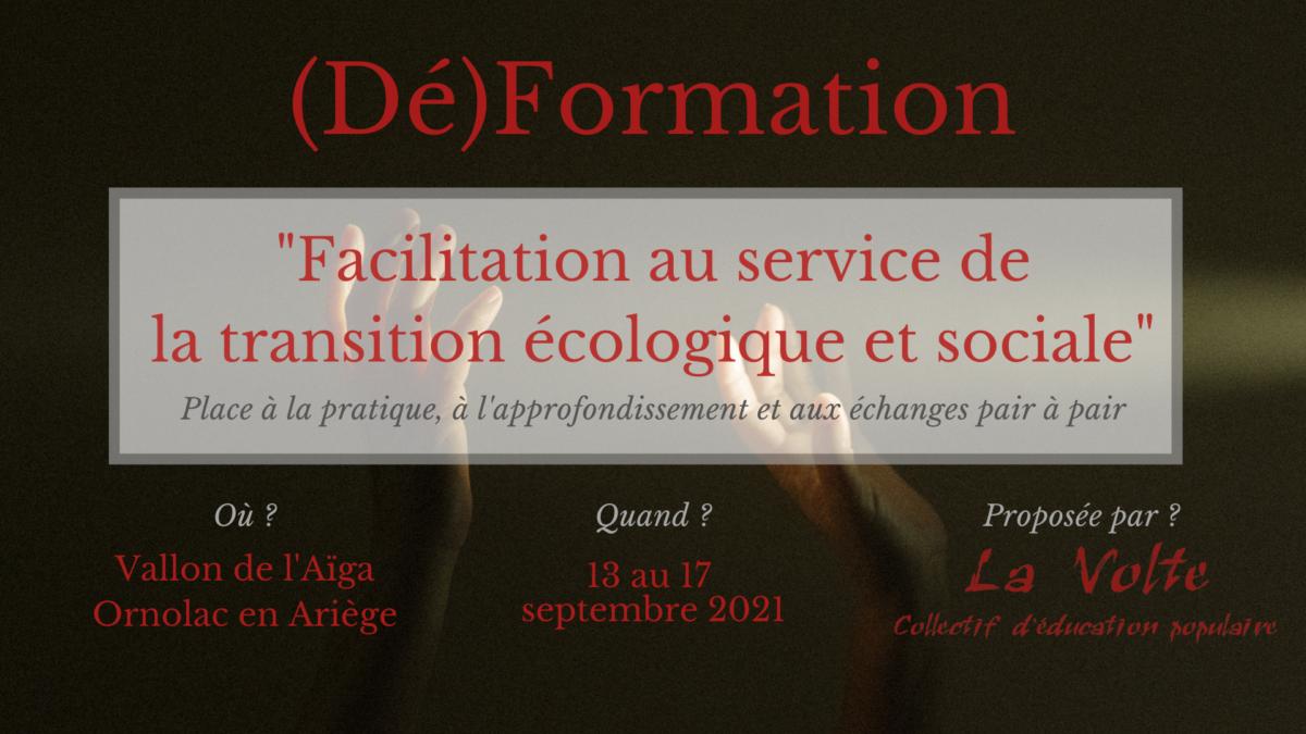 (Dé)formation, un nouveau cycle sur le départ ! Facilitation au service de la transition écologique et sociale