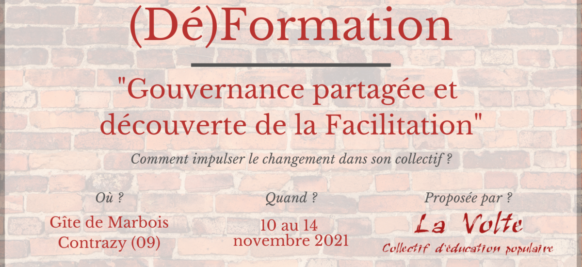 (Dé)formation : Gouvernance Partagée et Découverte de la Facilitation*